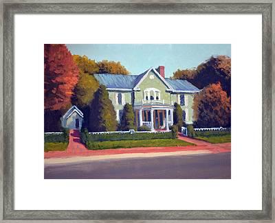 Claiborne House Autumn Framed Print