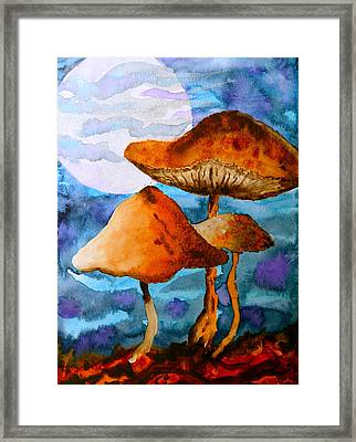 Claiming The Moon Framed Print by Beverley Harper Tinsley