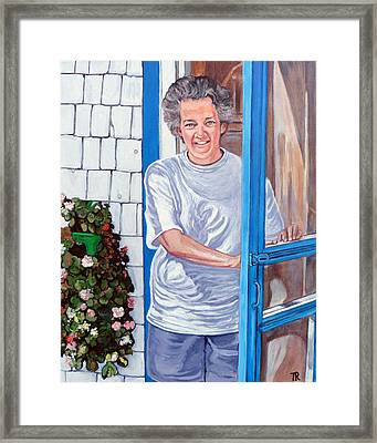 Claire Campbell Lewis Framed Print by Tom Roderick