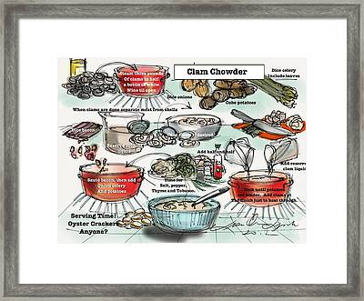 Clam Chowder Framed Print by Lisa Owen-Lynch