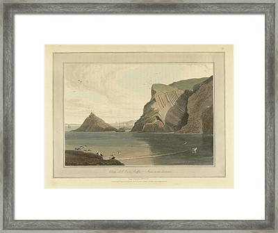 Clam-shell Cave On Staffa Framed Print by British Library