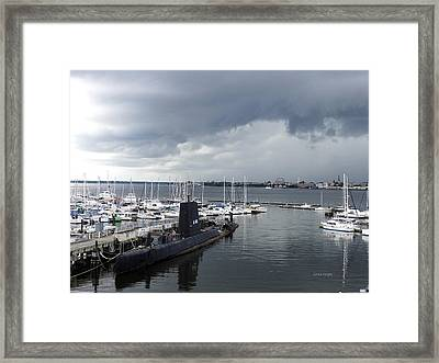 Uss Clamagore 343  #2 Framed Print
