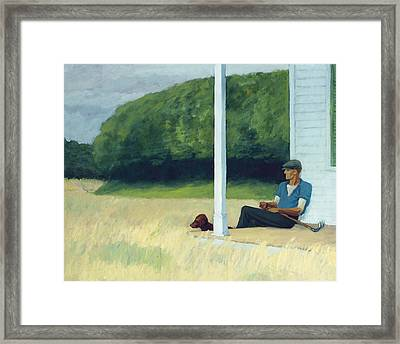 Clamdigger Framed Print by Edward Hopper