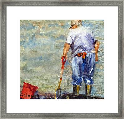 Clamdigger Framed Print by Sandy Linden