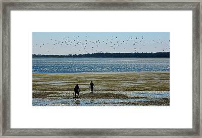 Clammers Framed Print by Mamie Gunning