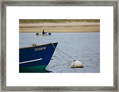 Framed Print featuring the photograph Clamming by Amazing Jules