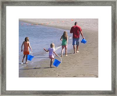 Clamming Framed Print