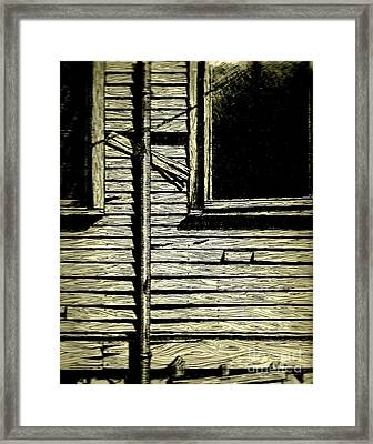 Framed Print featuring the painting Clap Boards by Michael Hoard