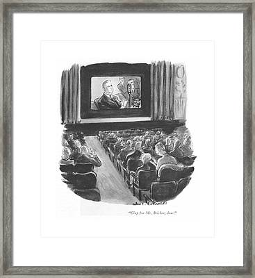 Clap For Mr. Bricker Framed Print by Helen E. Hokinson