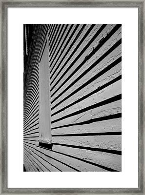 Clapboards Framed Print