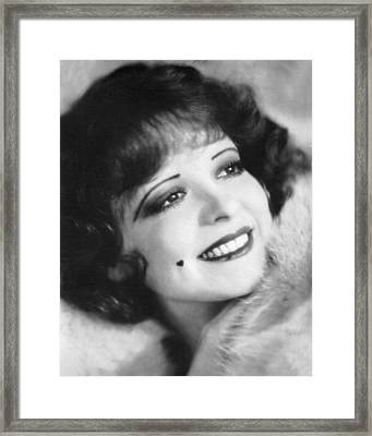 Clara Bow, the It Girl Framed Print by Underwood Archives