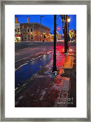 Clare Michigan At Christmas 10 Framed Print by Terri Gostola