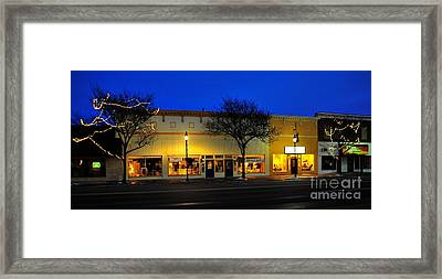 Clare Michigan At Christmas 11 Framed Print by Terri Gostola