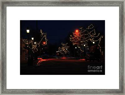 Clare Michigan At Christmas 12 Framed Print by Terri Gostola