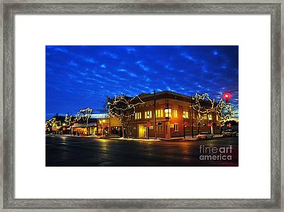 Clare Michigan At Christmas 4 Framed Print by Terri Gostola