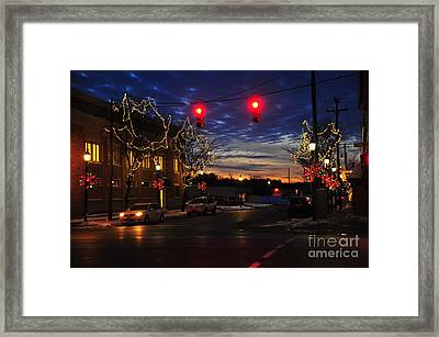 Clare Michigan At Christmas 5 Framed Print by Terri Gostola