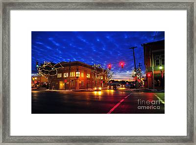 Clare Michigan At Christmas 6 Framed Print by Terri Gostola