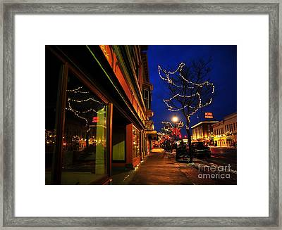 Clare Michigan At Christmas 7 Framed Print by Terri Gostola