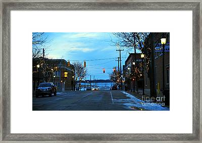 Clare Michigan At Christmas 8 Framed Print by Terri Gostola