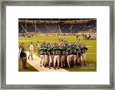 Clare Pioneers At Ford Field Framed Print by Terri Gostola