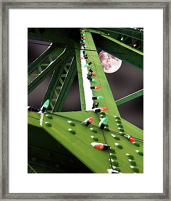 Framed Print featuring the digital art Clarence's Bridge by Tom Romeo