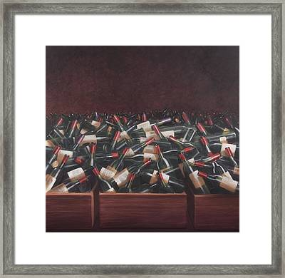 Claret Tasting Framed Print by Lincoln Seligman