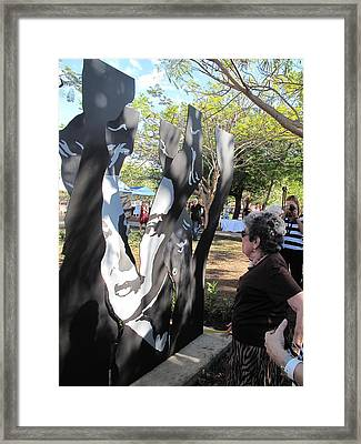 Claribel Alegria Admires Herself Framed Print