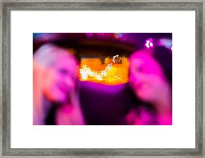 Clarie And Giggles In The Limo Framed Print by Nathan Hillis