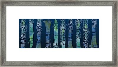 Clarinet Blues Framed Print by Jenny Armitage