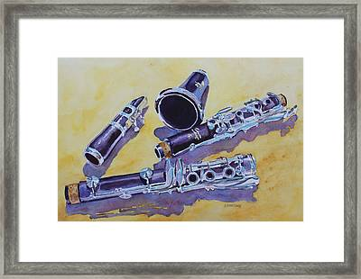 Clarinet Candy Framed Print by Jenny Armitage