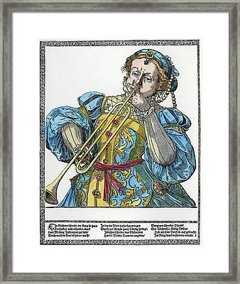Clarion Player Framed Print