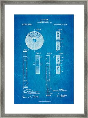 Clark Confetti Bomb Patent Art 1914 Blueprint Framed Print by Ian Monk
