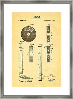 Clark Confetti Bomb Patent Art 1914 Framed Print