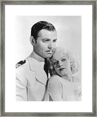 Clark Gable & Jean Harlow Framed Print by Underwood Archives