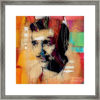 Clark Gable Collection Framed Print by Marvin Blaine