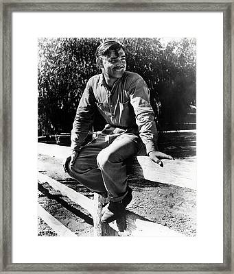 Clark Gable In It Happened One Night  Framed Print by Silver Screen