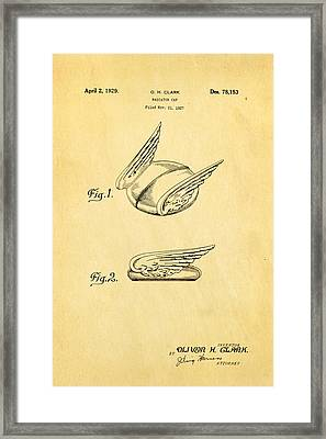Clark Hood Ornament Patent Art 1929 Framed Print by Ian Monk