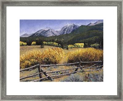 Clark Peak Framed Print by Mary Giacomini