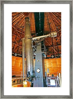 Clark Refractor Telescope Framed Print
