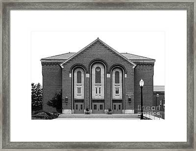 Clarke University Donaghoe Hall Theater Framed Print by University Icons