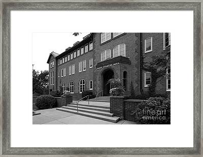 Clarke University Frances Hall Framed Print by University Icons