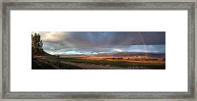 Clarks Fork Rainbow Framed Print