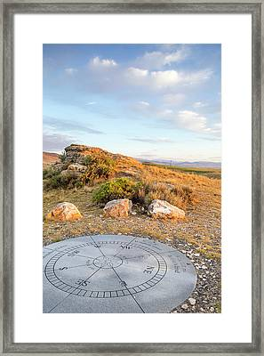 Clarks Lookout State Park In Dillon Framed Print by Chuck Haney