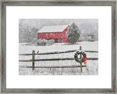 Clarks Valley Christmas 2 Framed Print by Lori Deiter