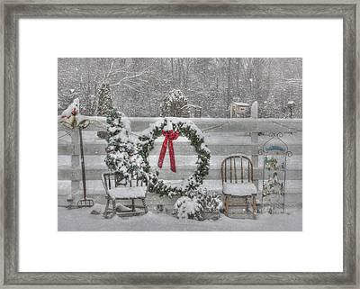 Clarks Valley Christmas 3 Framed Print by Lori Deiter