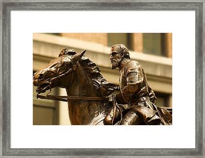 Clarksburg Wv Favorite Son Thomas J Stonewall Jackson Framed Print by Howard Tenke