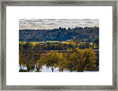 Clarksville Railroad Bridge Framed Print