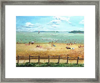 Carlyle Lake Beach In Il Framed Print by Ping Yan