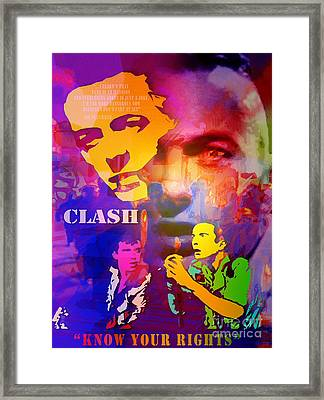 Clash Know Your Rights Framed Print by Neil Finnemore