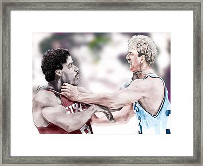 Clash Of The Titans 1984 - Bird And Doctor  J Framed Print